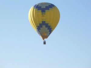Hot Air Balloon with Checks
